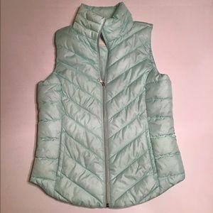NWOT SO Light Green Puffer Vest